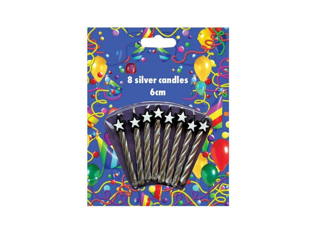 Dortové stříbrné svíčky