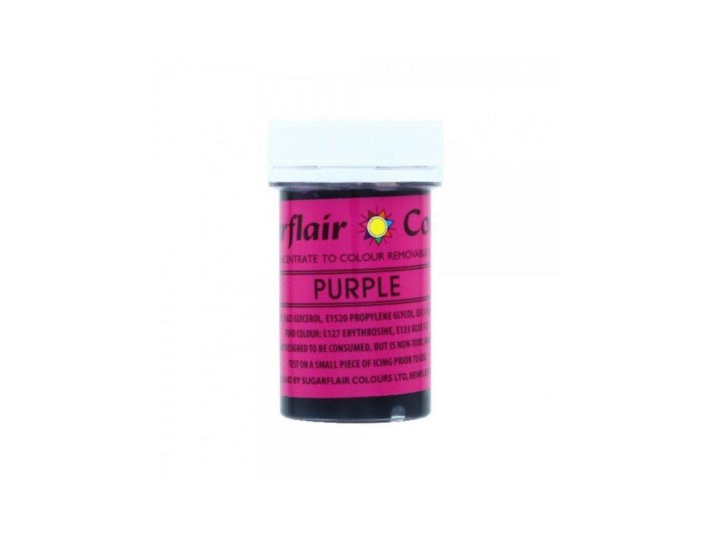 Gelová barva dekorační Sugarflair Craft PURPLE 25g