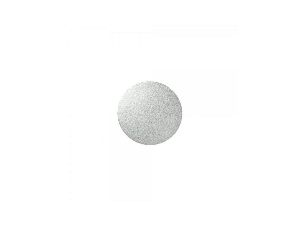 "Pevná stříbrná podložka, 3mm, pr. 20 cm (8"")"