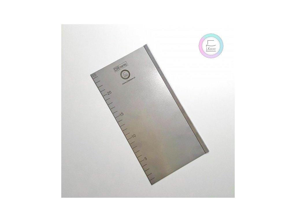 Nerezová cukrářská karta Japonka, 25x13 cm