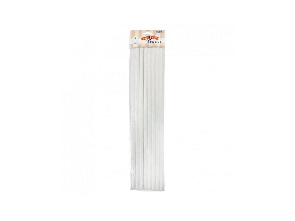 Plastové duté výztuže PME, 10mm, 40cm, 8ks