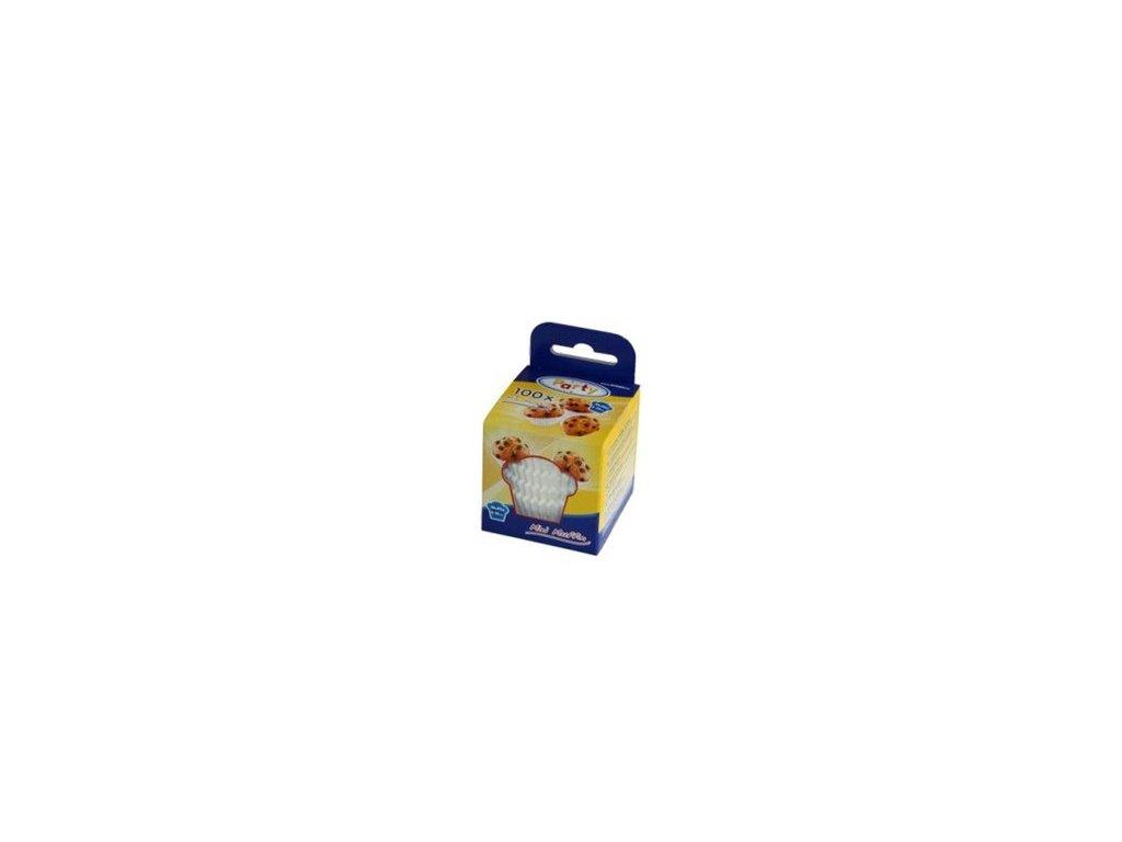 Cukrářské košíčky mini 35x20mm, bílé Wimex, 100ks
