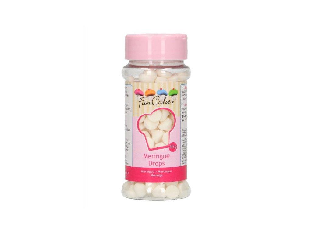 Cukrové zdobení FunCakes, Meringue Drops mini pusinky bílé 40g