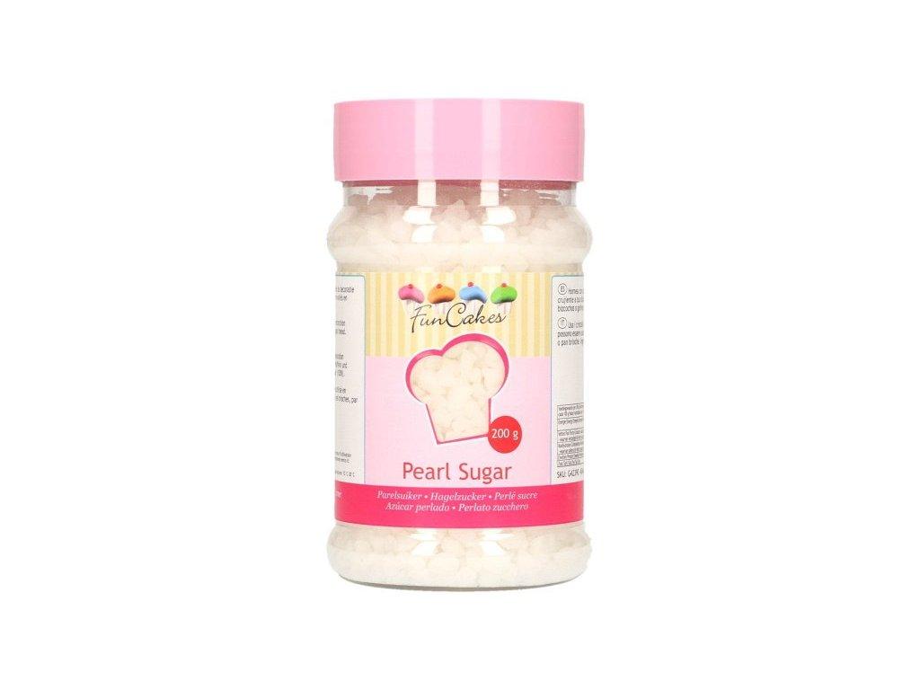 Cukrové zdobení Funcakes, krystalky Pearl Sugar 200g