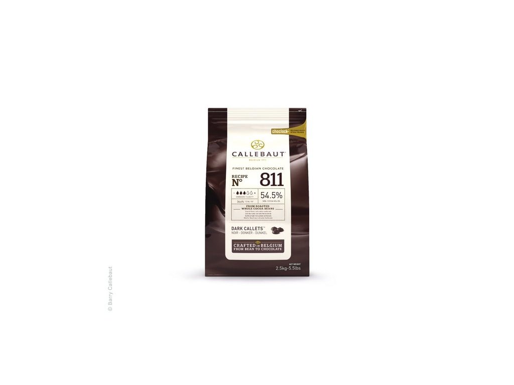 Hořká čokoláda 54,5%, Callebaut 811, 2,5kg