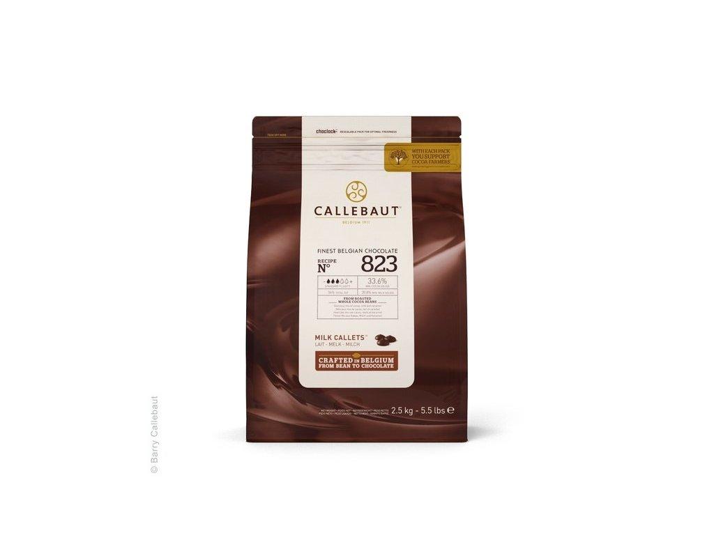 Mléčná čokoláda 33,6%, Callebaut 823, 2,5kg