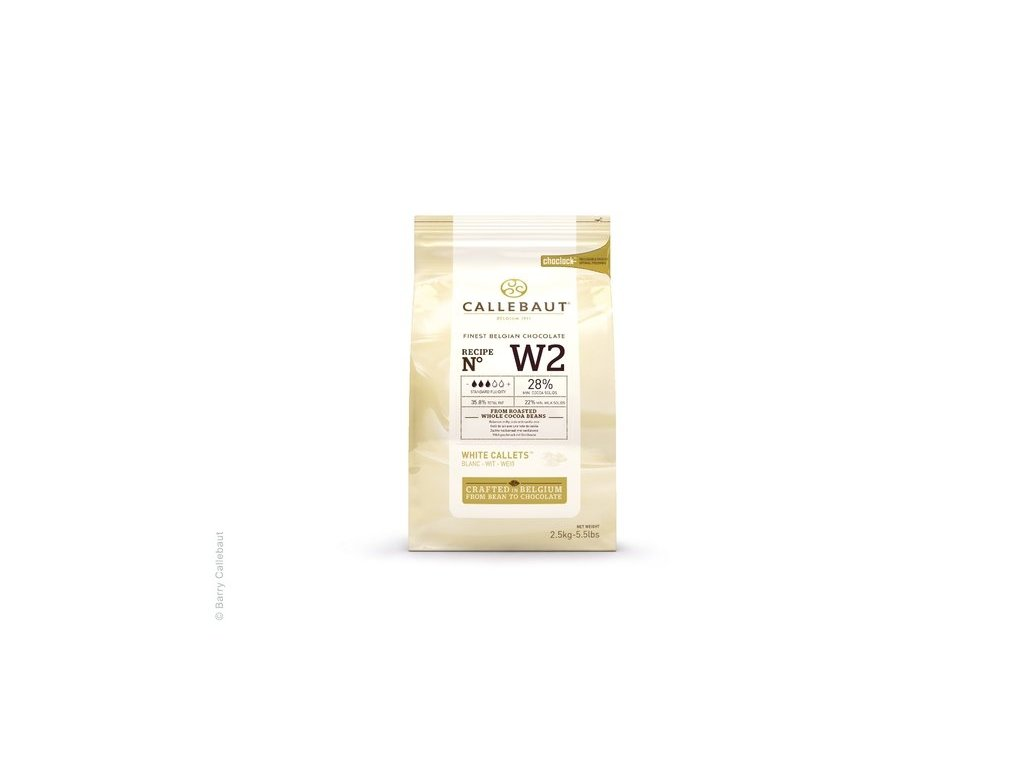Bílá čokoláda 28%, Callebaut W2, 2,5kg