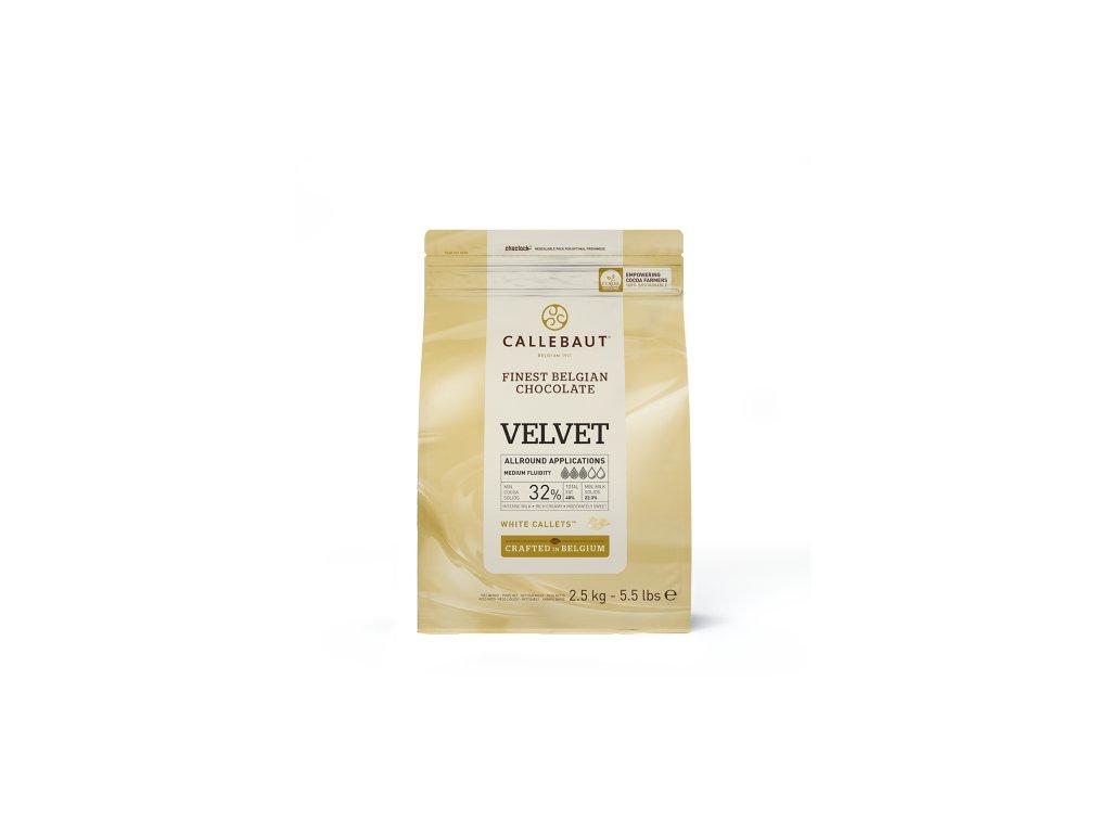Bílá čokoláda 32%, Callebaut Velvet, 2,5kg