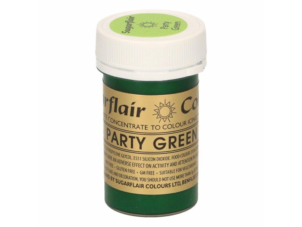 Gelová barva Sugarflair Spectral PARTY GREEN, 25g