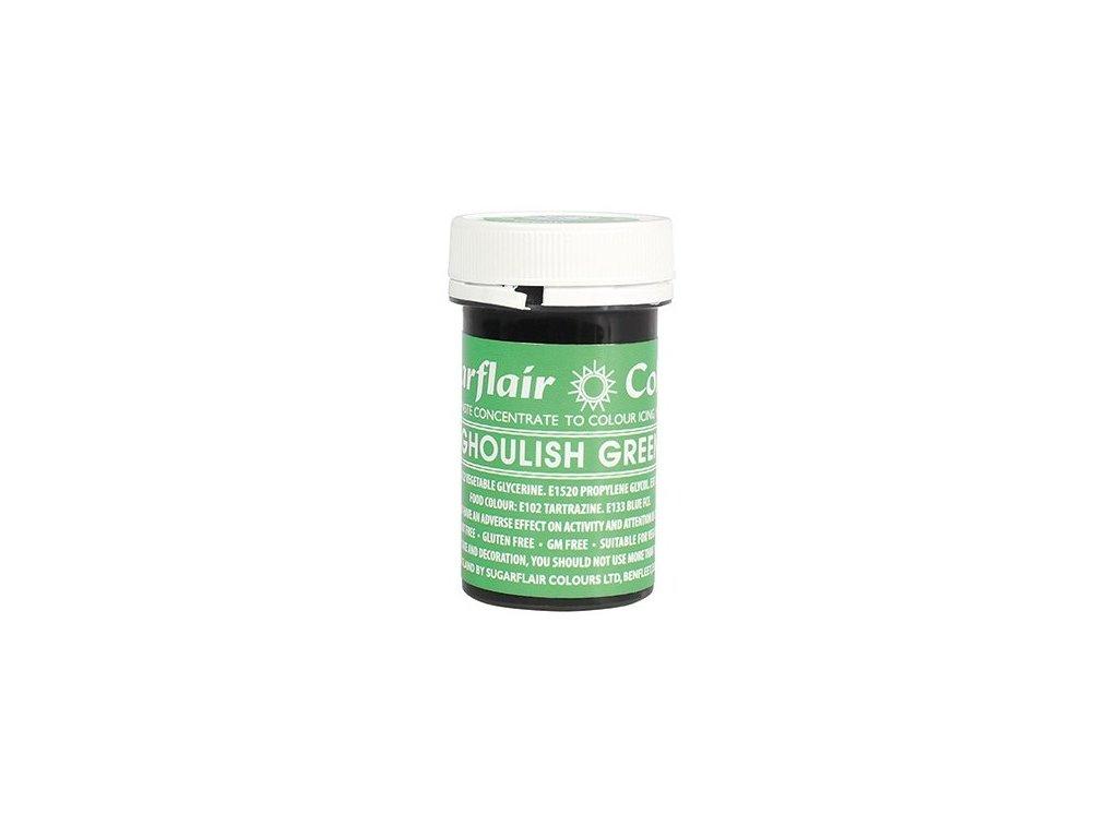 gelova barva sugarflair 25 g ghoulish green