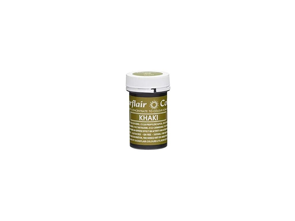 Gelová barva Sugarflair Spectral KHAKI, 25g