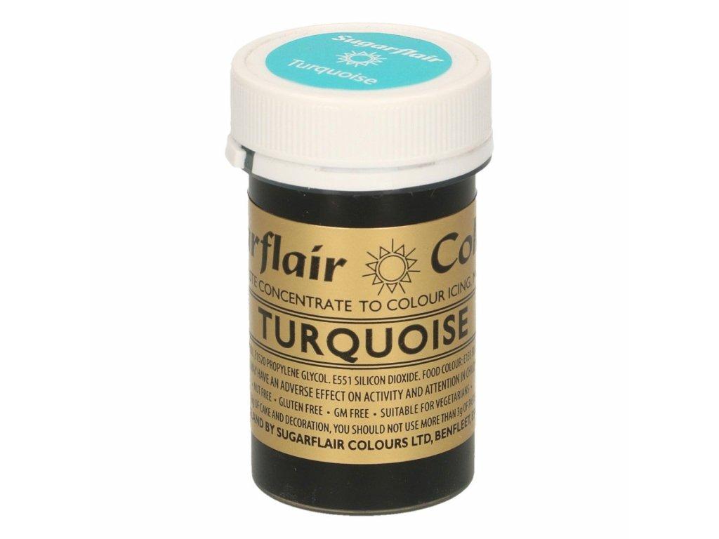 Gelová barva Sugarflair Spectral TURQUOISE, 25g