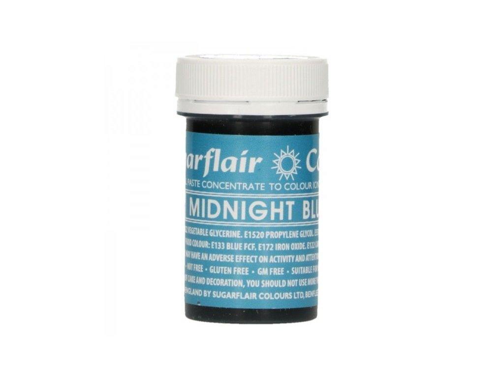 Gelová barva Sugarflair Spectral MIDNIGHT BLUE, 25g