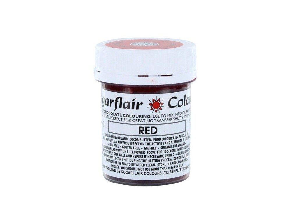 Sugarflair barva do čokolády RED, 35g
