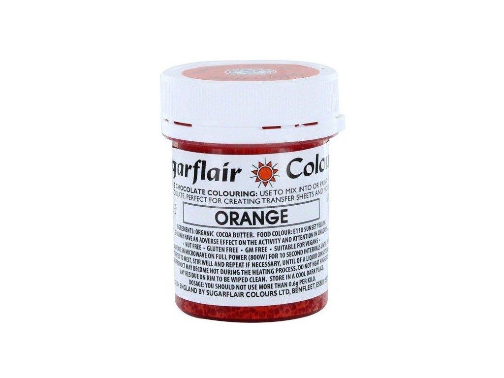 Sugarflair barva do čokolády ORANGE, 35g