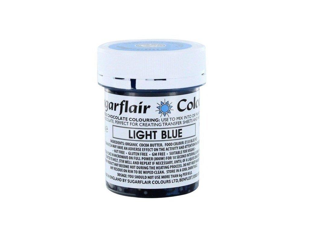 Sugarflair barva do čokolády LIGHT BLUE, 35g