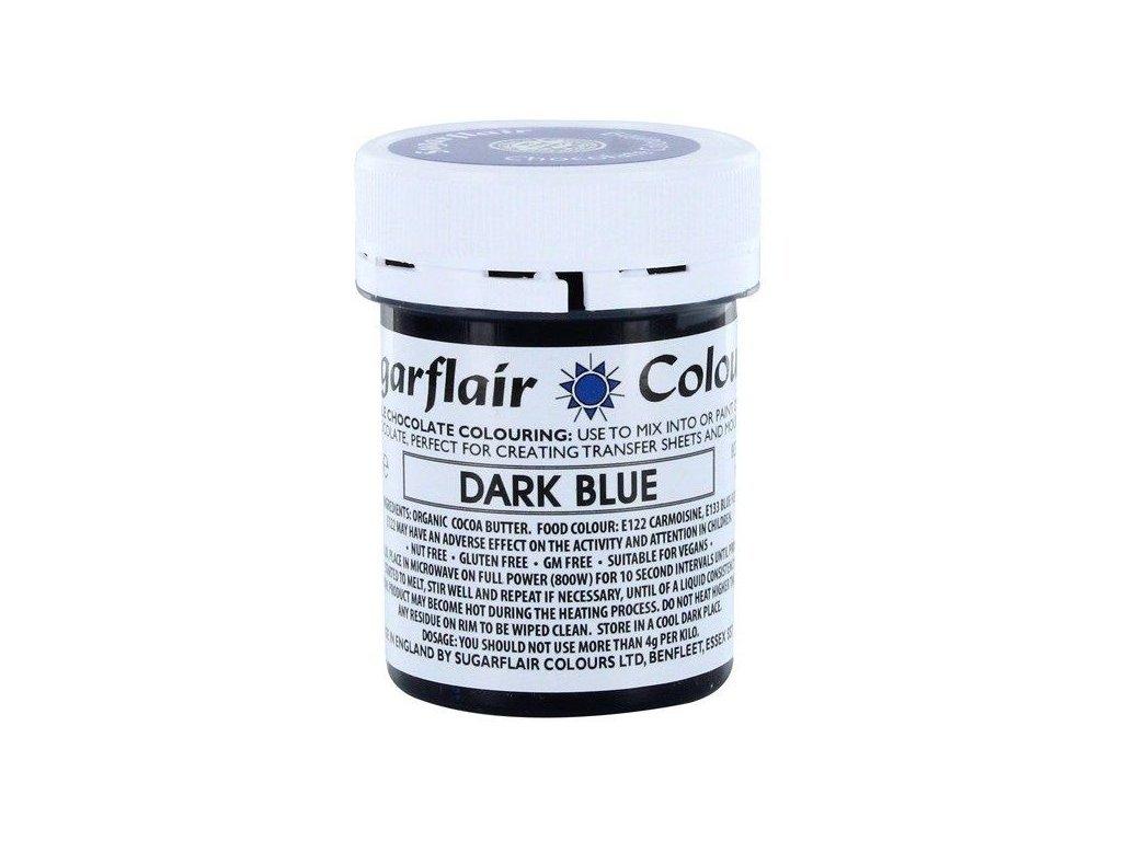 Sugarflair barva do čokolády DARK BLUE, 35g