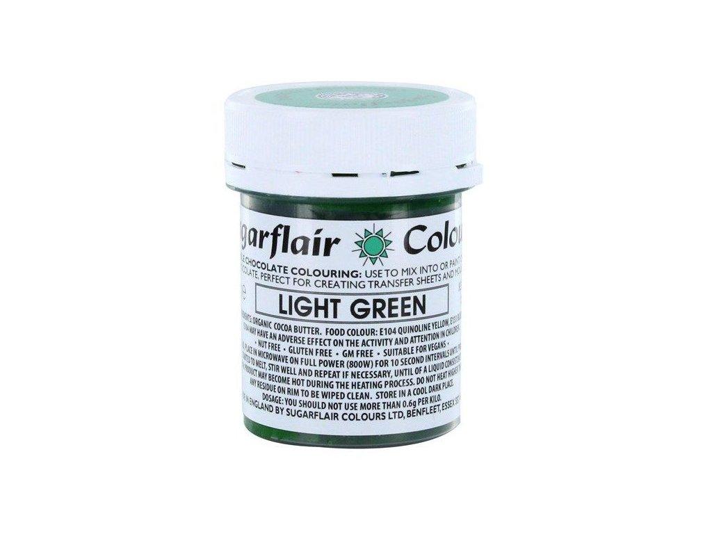 Sugarflair barva do čokolády LIGHT GREEN, 35g