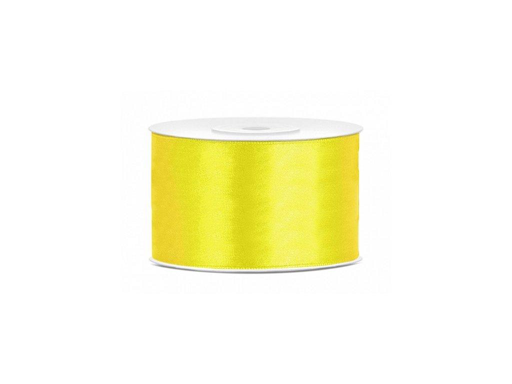 Saténová stuha 38mm/25m žlutá