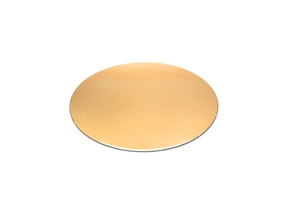 Tenká zlatá podložka, 1mm, pr. 14cm