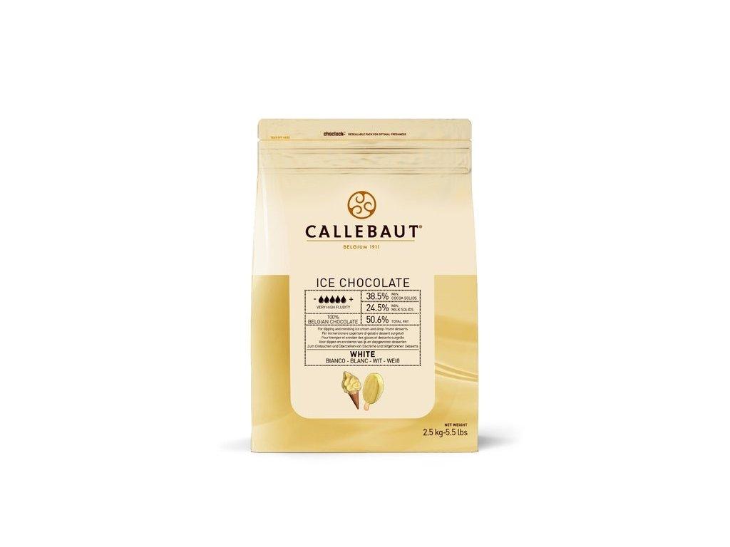 Bílá čokoláda k polévání ICE Chocolate Callebaut, 2,5kg