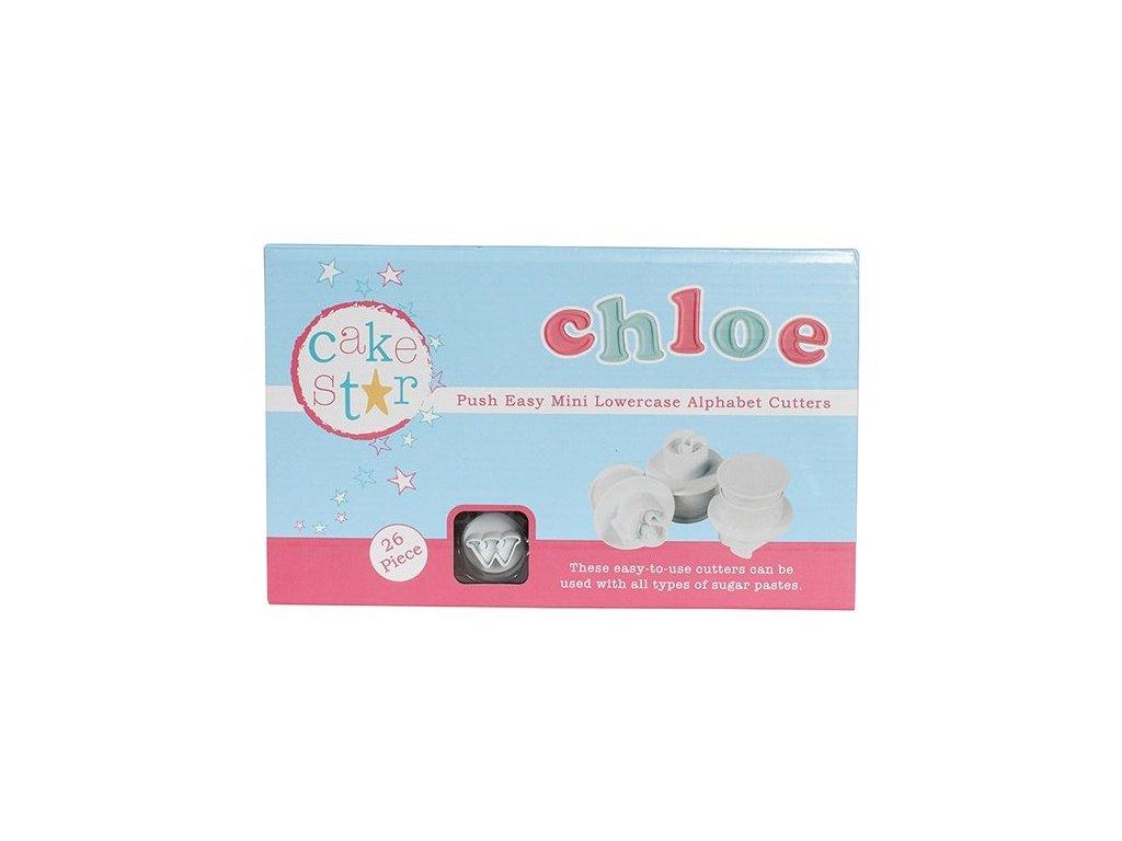 """Vypichovače """"malá abeceda"""" CHLOE MINI  1,7cm, Cake Star"""