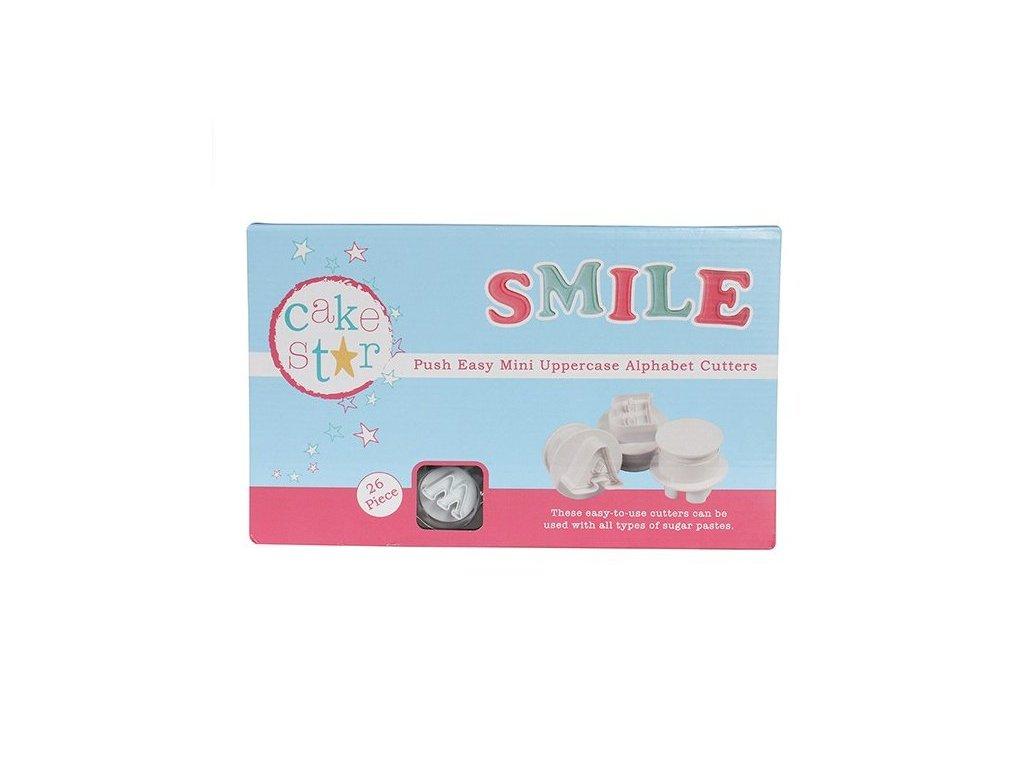 "Vypichovače ""velká abeceda"" SMILE MINI 2cm, Cake Star"