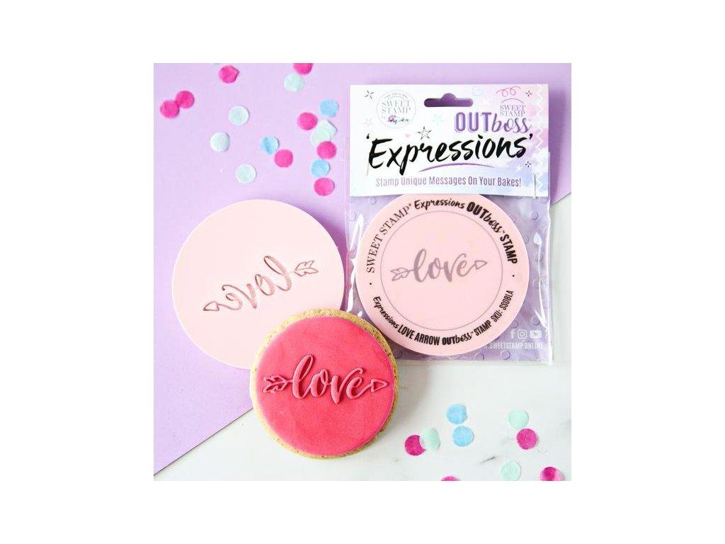 Vytlačovací OUTboss  - Love Arrow, Sweet Stamp
