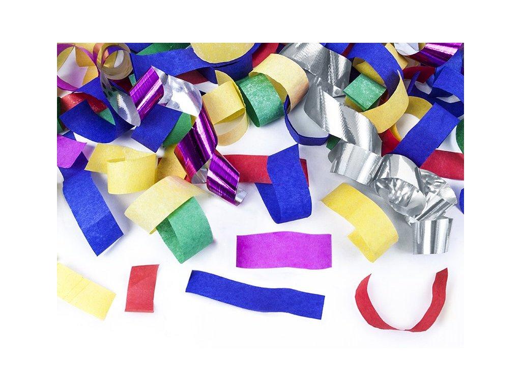Vystřelovací konfety a fáborky MIX barev 40cm, PartyDeco