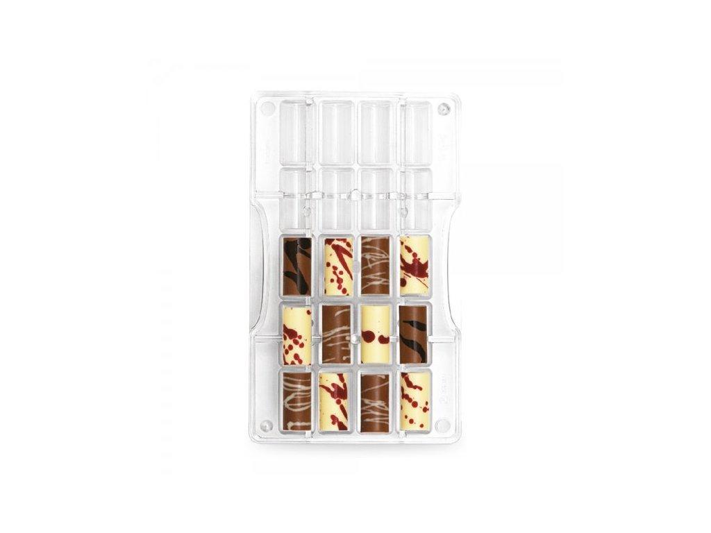 """Polykarbonátová forma na čokoládu Small Cylinder """"115, Decora"""