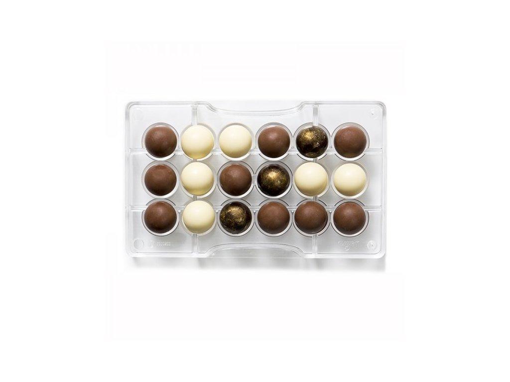 """Polykarbonátová forma na čokoládu Hemisphere """"89, Decora"""