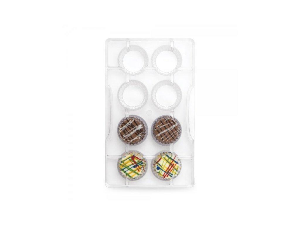 """Polykarbonátová forma na čokoládu Cupcake case """"101, Decora"""