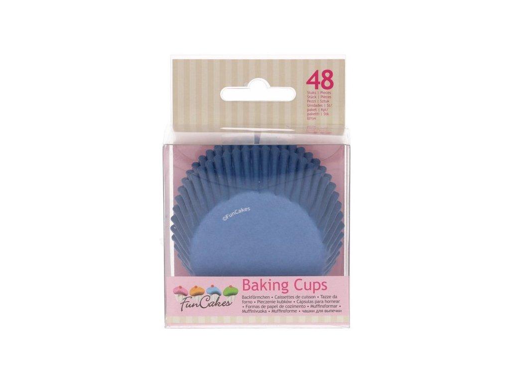 Cukrářské košíčky, 50x32mm Royal Blue, FunCakes, 48ks