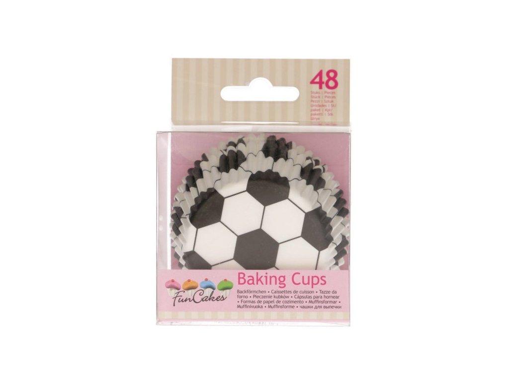 Cukrářské košíčky, 50x32mm Fotbalový míč FunCakes, 48ks