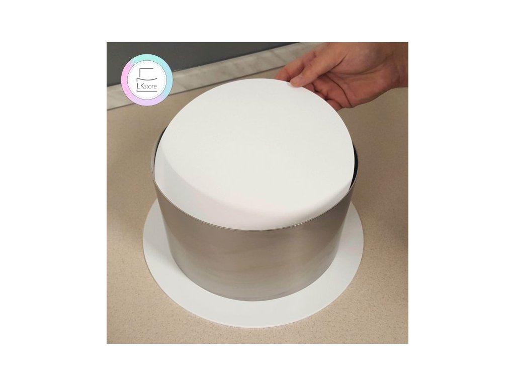 Plexi disky bílé, 3mm, pr. 195mm, 2ks