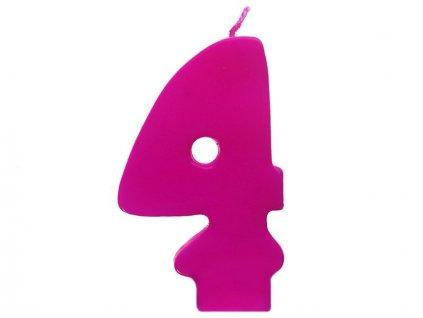 Dortová svíčka růžová číslo 4
