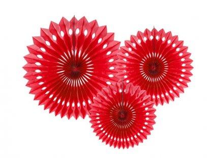 Dekorační rozety červené 3ks