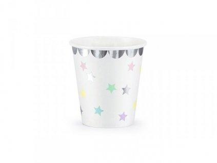 Kelímky papírové unicorn hvězdičky 6ks