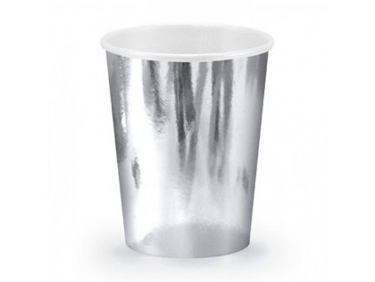 Kelímky papírové stříbrné 6ks
