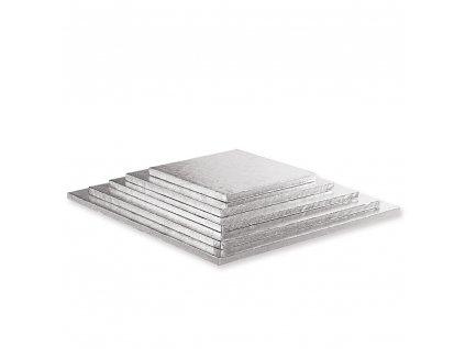 "Pevná stříbrná podložka, 12mm, 25x25cm (10"")"