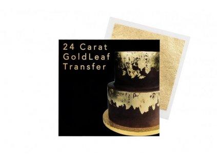 Transfer plát zlatý 24 karátů Sugarflair (8x8cm)