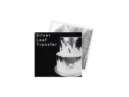 Transfer plát stříbrný Sugarflair (8 x 8cm)