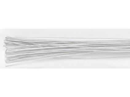 Aranžovací drát bílý č.22, Culpitt, 20ks