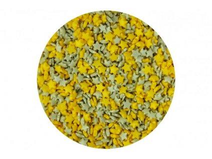 Cukrové zdobení Scrumptious, Mini Stars Gold and Silver 60g