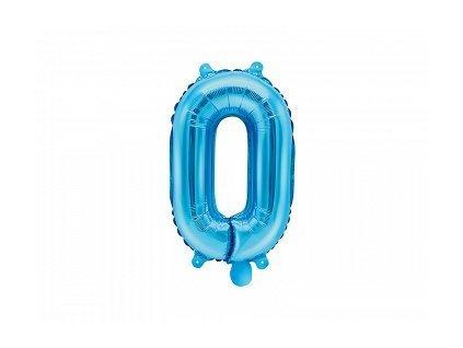 Balón fóliové číslo modré 0