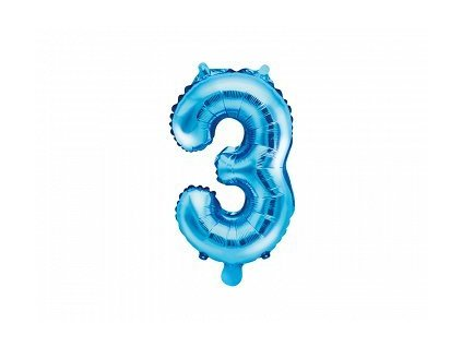 Balón fóliové číslo modré 3