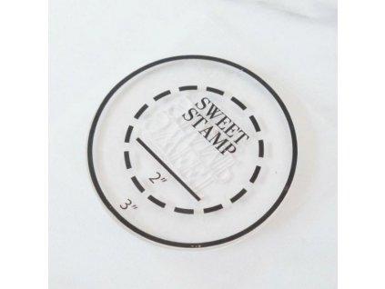 Podložka na abecedu kulatá Sweet Stamp