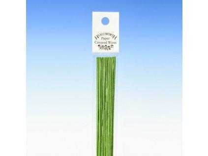 Aranžovací drát zelený č.24, HAMILWORTH, 50ks