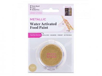 Metalická barva Water Activated Antique Gold, Sweet Sticks