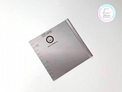 Nerezová cukrářská karta Japonka, 12x12 cm